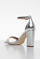 Call It Spring - Faux leather ankle strap heel - silver