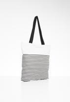 Superbalist - Striped tote bag - black & white