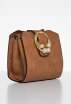 Superbalist - Double ring detail bag - brown