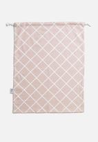 Sixth Floor - Grid storage bag - rose