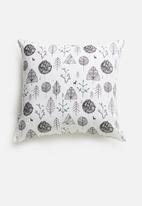 Sixth Floor - Wildnerness cushion cover - black & white