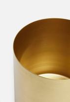 Sixth Floor - Amelia planter - gold