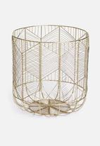 Sixth Floor - Harlow storage basket - gold