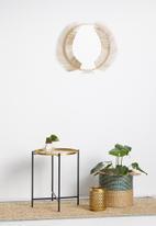 Sixth Floor - Amelia leaf mirror - brass