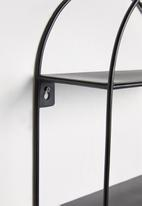 Sixth Floor - Art deco shelf - black