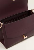 MANGO - Ring flap bag - purple