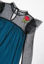 POP CANDY - Mesh dress - black & blue