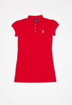 POLO - Girls Dakota golfer dress - red