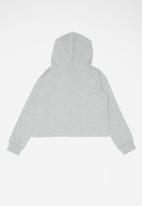 Converse - Cnvg conv cropped hoodie - grey
