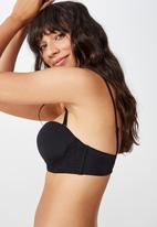 Cotton On - Sophia lace strapless push up bra  - black