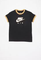 Nike - G nsw tee nike air logo ringer - black & gold