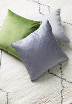 Sixth Floor - Chloe velvet cushion cover - grey