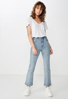 Cotton On - The deep v  - white & grey