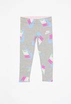 Nike - Nike girls fleece cotton jersey legging - grey