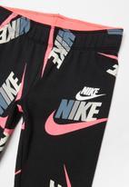 Nike - Nike girls fleece cotton jersey legging - black