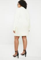 Missguided - Turtle-neck jumper dress - cream
