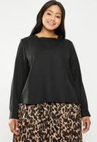 AMANDA LAIRD CHERRY - Plus size neo blouse - black