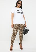 STYLE REPUBLIC PLUS - Beach please T-shirt - black & white