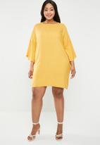 STYLE REPUBLIC PLUS - Volume sleeve tunic dress - yellow