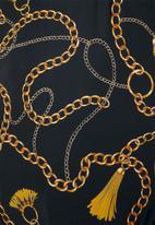 Superbalist - Scoop neck one piece - black & gold