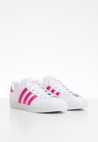 adidas Originals - Coast star j - pink & white