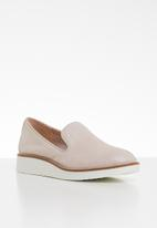 ALDO - Leather flatform loafer - neutral