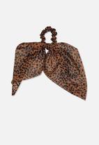 Cotton On - Scarf scrunchie - brown & black