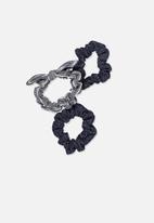 Cotton On - Mini scrunchie - navy & white