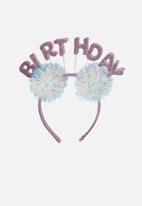 Cotton On - Novelty headband - purple & white