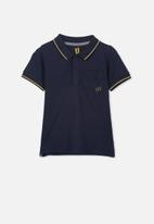 Cotton On - Kendricks polo - navy & yellow