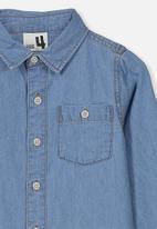 Cotton On - Fairfax long sleeve shirt - blue