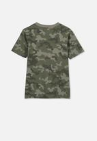 Cotton On - Max skater short sleeve tee - khaki & grey