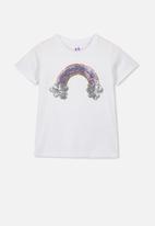 Cotton On - Stevie short sleeve embellished tee - white