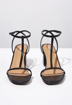 Cotton On - Mila double strap heel - black smooth