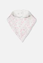 Cotton On - The kerchief bib - grey & pink