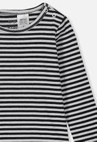 Cotton On - The long sleeve bubbysuit - white & black
