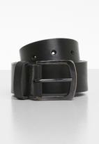 Superbalist - Clay leather belt - black