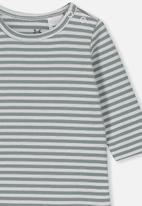 Cotton On - The long sleeve bubbysuit - grey & white