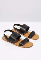Cotton On - Isla sling back sandal - black