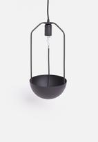 Sixth Floor - Planter pendant - black