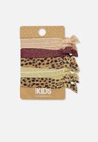 Cotton On - Knot messy hairties - multi