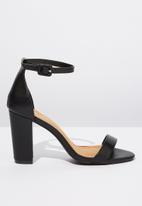 Cotton On - San luis heel - black