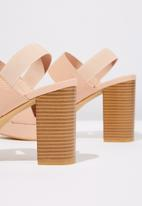 Cotton On - Reptile faux leather heel - pink