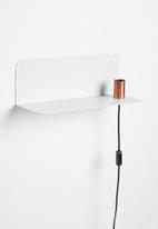 Smart Shelf - Ledge shelf steel - white & brass
