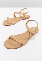 Cotton On - Faux suede wrap sandal - tan