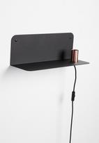 Smart Shelf - Ledge shelf steel - black & brass