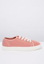 Cotton On - Canvas creeper plimsoll - pink