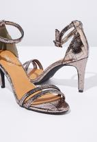 Cotton On - Shari double strap stiletto - bronze