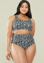 Superbalist - High waist bikini bottom - white & black