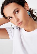 Cotton On - Savannah tort earring - multi